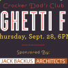 Crocker Spaghetti Feed – 9/28 6:00 pm
